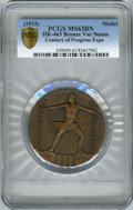 Expositions and Fairs, 1933 Century of Progress Exposition, Official Medal, HK-463, MS63 Brown PCGS. 56mm, Bronze....