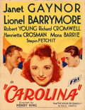 "Movie Posters:Comedy, Carolina (Fox, 1934). Trimmed Window Card (14"" X 18"").. ..."