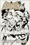 Original Comic Art:Splash Pages, Neal Adams and Dick Giordano Batman: Stacked Cards [Book andRecord Set] #PR27 Splash Page 1 Joker Original Art (P...