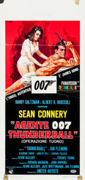 "Movie Posters:James Bond, Thunderball (United Artists, 1965). Italian Locandina (13"" X27.75"") Averardo Ciriello Artwork.. ..."