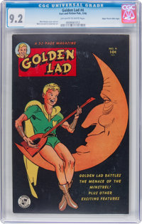 Golden Lad #4 Mile High Pedigree (Spark Publications, 1946) CGC NM- 9.2 Off-white to white pages