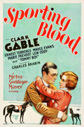"Movie Posters:Drama, Sporting Blood (MGM, 1931). One Sheet (27"" X 41""). Drama.. ..."