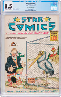 Star Comics #7 Mile High Pedigree (Harry 'A' Chesler, 1937) CGC VF+ 8.5 Off-white to white pages
