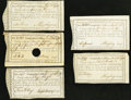 Colonial Notes:Connecticut, Connecticut Interest Certificates 1790-92 Anderson CT-49 Very Fine.. 5s Dec. 24, 1790, CC;. £1.4.3 Jan. 24, 1791, HOC;. £2 O... (Total: 5 items)