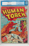 Golden Age (1938-1955):Superhero, The Human Torch #3 (#2) (Timely, 1940) CGC FN/VF 7.0 Cream to off-white pages....