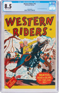 Golden Age (1938-1955):Western, Western Riders #15 (Bell Features, c. 1950s) CGC VF+ 8.5 Off-whiteto white pages....