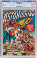 Golden Age (1938-1955):Science Fiction, Astonishing #5 (Atlas, 1951) CGC VG/FN 5.0 Off-white pages....