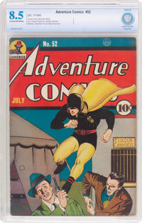 Adventure Comics #52 (DC, 1940) CBCS VF+ 8.5 Cream to off-white pages
