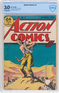 Golden Age (1938-1955):Superhero, Action Comics #5 (DC, 1938) CBCS GD/VG 3.0 Off-white to white pages....