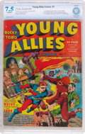 Golden Age (1938-1955):Superhero, Young Allies Comics #1 (Timely, 1941) CBCS VF- 7.5 Off-white pages....