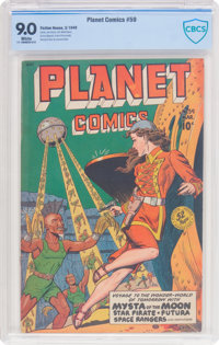 Planet Comics #59 (Fiction House, 1949) CBCS VF/NM 9.0 White pages