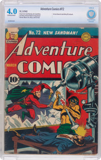 Adventure Comics #72 (DC, 1942) CBCS VG 4.0 Off-white to white pages