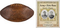 """Football Collectibles:Others, 1928 Notre Dame Fighting Irish Team Signed Football Attributed to Famous """"Gipper Game"""" vs. Army & Original Game Program...."""