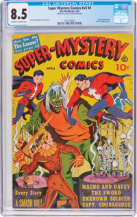 Super-Mystery Comics V3#4 (Ace, 1943) CGC VF+ 8.5 Off-white to white pages