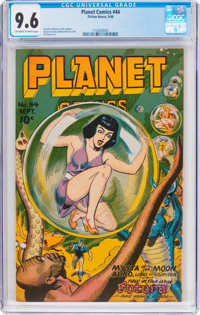 Planet Comics #44 (Fiction House, 1946) CGC NM+ 9.6 Off-white to white pages