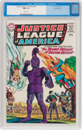 Silver Age (1956-1969):Superhero, Justice League of America #34 Pacific Coast Pedigree (DC, 1965) CGCNM+ 9.6 White pages....