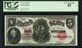 Large Size:Legal Tender Notes, Fr. 87 $5 1907 Legal Tender PCGS Extremely Fine 45.. ...