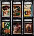 Baseball Cards:Lots, 1955-57 Bowman/Topps Baseball Collection (14)....
