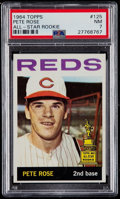 Baseball Cards:Singles (1960-1969), 1964 Topps Pete Rose #125 PSA NM 7....