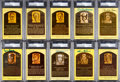 Baseball Collectibles:Others, Hall of Fame Plaque Postcards Signed by 100....