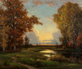 Paintings, Robert William Wood (American, 1889-1979). At Sunset, 1942. Oil on canvas. 25 x 30 inches (63.5 x 76.2 cm). Signed and d...