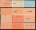 Autographs:Index Cards, Signed Baseball Hall of Famers Index Cards Collection (12) With JoeDiMaggio. ...