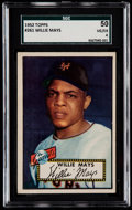 Baseball Cards:Singles (1950-1959), 1952 Topps Willie Mays #261 SGC 50 VG/EX 4....
