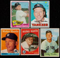 Baseball Cards:Lots, 1954-67 Bowman & Topps Mickey Mantle Collection (5). ...