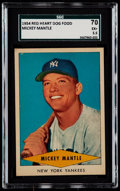 Baseball Cards:Singles (1950-1959), 1954 Red Heart Mickey Mantle SGC 70 EX+ 5.5....