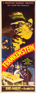 "Movie Posters:Horror, Frankenstein (Realart, R-1951). Insert (14"" X 36"").. ..."