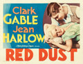 "Movie Posters:Romance, Red Dust (MGM, 1932). Half Sheet (22"" X 28"").. ..."