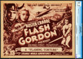 "Movie Posters:Serial, Flash Gordon (Universal, 1936). CGC Graded Title Lobby Card (11"" X14"") Chapter 6 -- ""Flaming Torture."". ..."