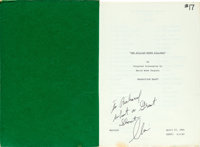 """Unforgiven (Warner Brothers, 1992) AKA: The William Munny Killings. Inscribed Paperbound Script (135 Pages, 8.5"""""""