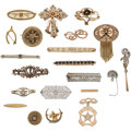 Estate Jewelry:Brooches - Pins, Diamond, Multi-stone, Seed Pearl, Enamel, Gold, Yellow Metal,Sterling Silver Brooches. ... (Total: 21 Items)