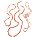 Estate Jewelry:Necklaces, Coral, Gold, Base Metal Necklaces. ... (Total: 3 Items)