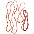 Estate Jewelry:Necklaces, Coral, Gold, Yellow Metal Necklaces. ... (Total: 4 Items)