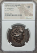 Ancients:Celtic, Ancients: CELTIC. Danube Region. Imitating Thasos. After 146 BC. ARtetradrachm. NGC XF....
