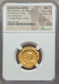 Ancients:Byzantine, Ancients: Maurice Tiberius (AD 582-602). AV solidus (4.39 gm). NGCMS 4/5 - 3/5, clipped....