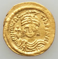 Ancients:Byzantine, Ancients: Maurice Tiberius (AD 582-602). AV solidus (4.24 gm).VF. ...
