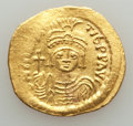 Ancients:Byzantine, Ancients: Maurice Tiberius (AD 582-602). AV solidus (4.33 gm).About XF....