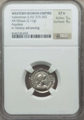 Ancients:Roman Imperial, Ancients: Valentinian II (AD 375-392). AR siliqua (2.11 gm). NGC XF★ 5/5 - 4/5....