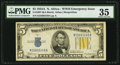 Small Size:World War II Emergency Notes, Fr. 2307 $5 1934A North Africa Silver Certificate. PMG Choice Very Fine 35.. ...