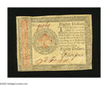 Colonial Notes:Continental Congress Issues, Continental Currency January 14, 1779 $80 Extremely Fine. A couple of corner folds and a lateral fold are found on this Cont...