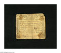 Colonial Notes:Massachusetts, Massachusetts October 18, 1776 1s/6d Good-Very Good. The face shows evidence of once being mounted. The note has also been t...