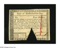 Colonial Notes:Massachusetts, Massachusetts May 5, 1780 $4 Choice New, COC. We've only had oneother note of this issue and denomination that could rival ...