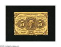 Fractional Currency:First Issue, Fr. 1228 5c First Issue Choice About New. A faint fold is detected on this Fractional that is perforated on two sides. This ...