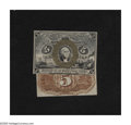 Fractional Currency:Second Issue, Fr. 1232SP 5c Second Issue Narrow Margin Pair Choice New. The face has a delightful bronze oval that is neatly centered arou... (Total: 2 items)