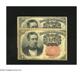 Fractional Currency:Fifth Issue, Fr. 1265 10c Fifth Issue About New, soiling, pinholes. Fr. 1266 10c Fifth Issue Fine.. Both key sizes are included in th... (Total: 2 notes)