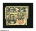 Fractional Currency:Fifth Issue, Fr. 1265 10c Fifth Issue VG. Fr. 1309 25c Fifth Issue VG.. Both Keyvarieties are shown on this lot over two different d... (Total: 2notes)