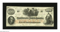 Confederate Notes:1862 Issues, T41 $100 1862. Corner folds are found on this C-note. AboutUncirculated....